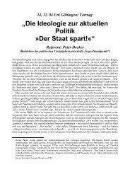 """""""Die Ideologie zur aktuellen Politik »Der Staat spart!«"""" - Gruppe 3"""
