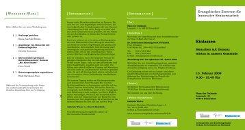 Flyer zur Veranstaltung (pdf, 225kb) - Evangelisches Zentrum für ...