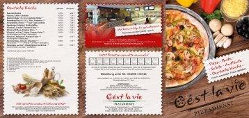 - Pizza - Pasta - - Salate - Aufläufe - - Deutsche Küche ... - Strike In