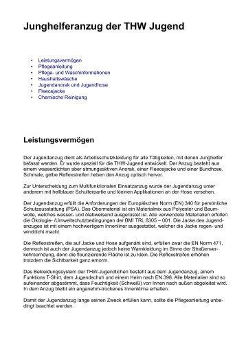 Junghelferanzug der THW Jugend - Info und Pflegehinweise.pdf