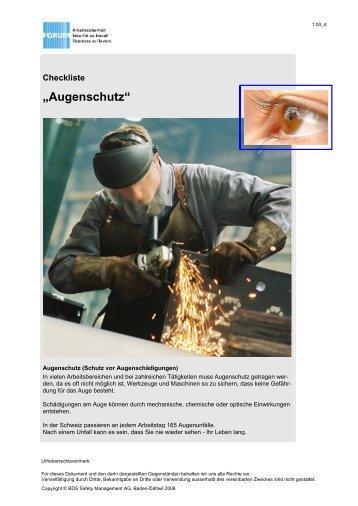 Augenschutz - PLKM