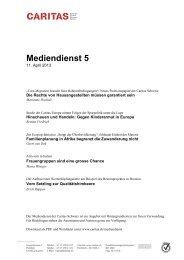 Mediendienst 5 - CARITAS - Schweiz