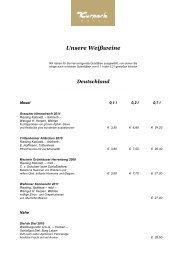 Unsere Weinkarte - Kurpark-Hotel