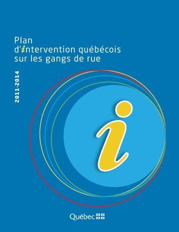 Plan d'intervention québécois sur les gangs de rue 2011-2014