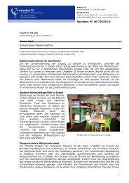 Schülerheim-Patenschaften - Mission 21