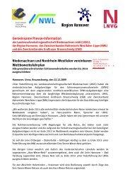 Gemeinsame Presse-Information Niedersachsen und ... - LNVG