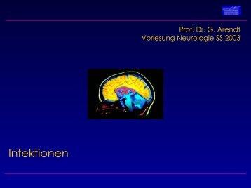 Vorlesung Prof. Dr. Arendt WS 2002 - Neurologische Klinik