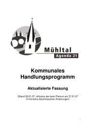 Kommunales Handlungsprogramm - Gemeinde Mühltal