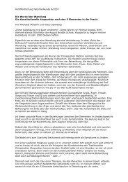 Veröffentlichung Naturheilkunde 9/2007 Die Wurzel der Wandlung ...