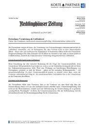 Ferienhaus-Vermietung als Liebhaberei - Korte & Partner