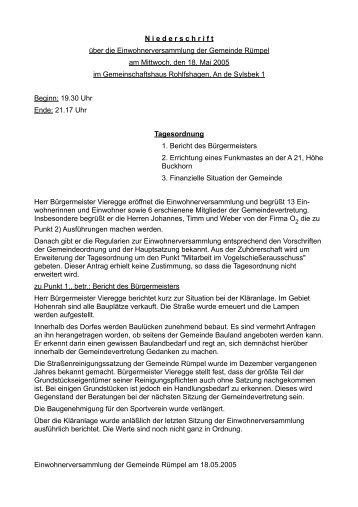 Protokoll 18.05.2005 - Amt Bad Oldesloe-Land