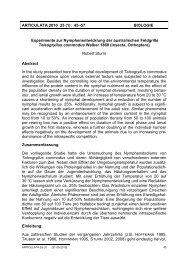 ARTICULATA 2010 25 (1): 45–57 BIOLOGIE Experimente zur ...