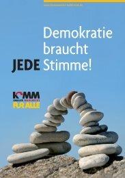 Demokratie braucht jede Stimme! - Kommunales Wahlrecht für alle