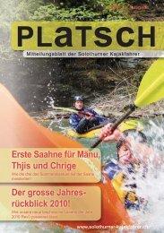 platsch 2/2010 - Solothurner Kajakfahrer