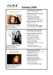 Katalog 2009 - Portraits