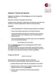 Aphasie = Verlust der Sprache