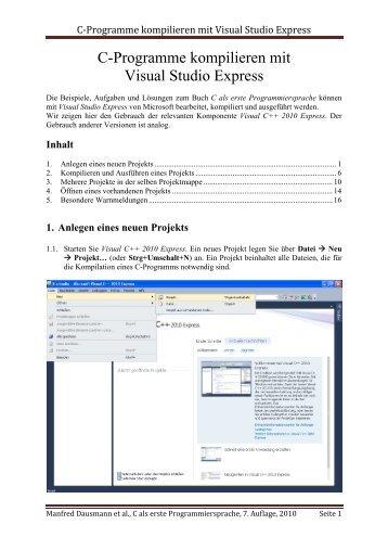 C-Programme kompilieren mit Visual Studio Express - IT-Designers ...