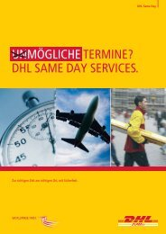 Broschüre Same Day - DHL