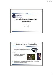 Selbstheilende Materialien Selbstheilende Materialien - ZPT