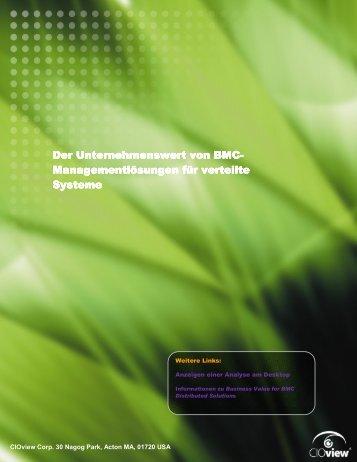 Managementlösungen für verteilte Systeme - BMC Software