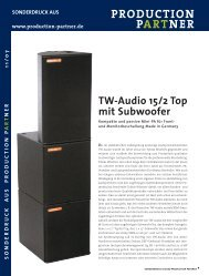 Sonderdruck Production Partner 1107 (PDF) - TW Audio