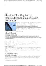 Streit um den Fluglärm - Kantonale Abstimmung vom 27 ... - firma-web