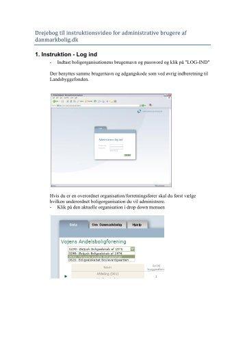 Instruktionsmanual for administrative brugere af danmarkbolig.dk