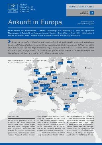 Ankunft in Europa