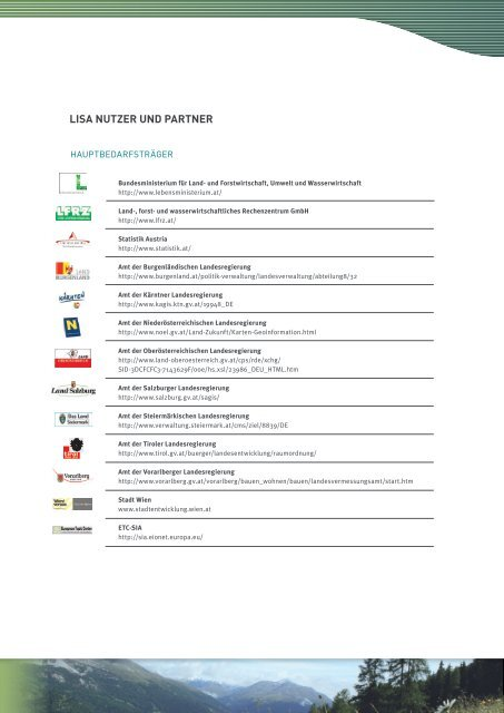 LISA-Broschüre Langversion - Development of the Austrian Land ...