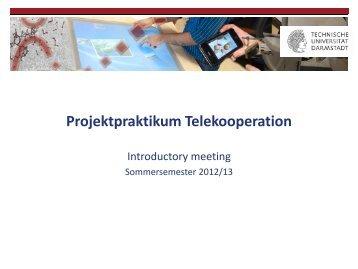Projektpraktikum Telekooperation - Technische Universität Darmstadt