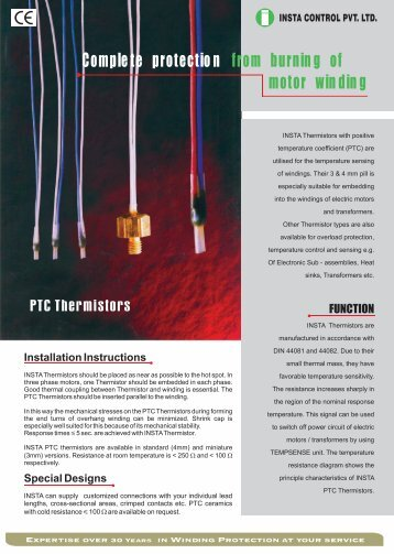 PTC Thermistors - Insta Control