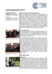 Jahresbericht 2011 - Fragile Suisse