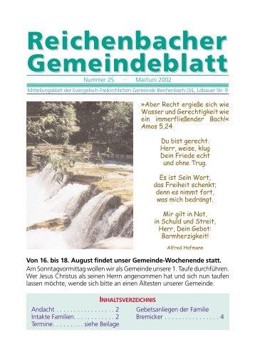 Nr. 25 Mai/Juni - bei der EFG Reichenbach