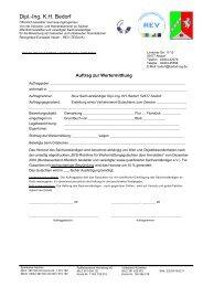Auftrag zur Wertermittlung - Ing. KH Bedorf
