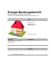 Beratungsbericht Muster - Hausverwaltung Potzler GmbH