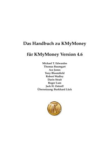 Das Handbuch zu KMyMoney - KDE Documentation