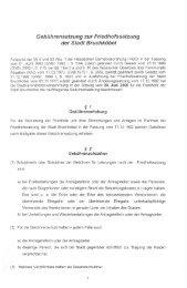 Gebührensatzung zur Friedhofssatzung der Stadt Bruchköbel