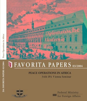 PEACE OPERATIONS IN AFRICA