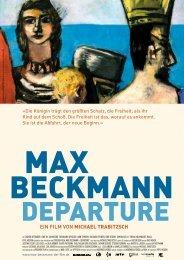Max Beckmann - Departure Presseheft