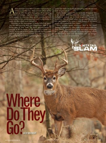 BY CY WEICHERT - Whitetail Slam