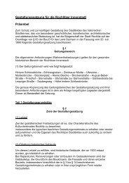 Gestaltungssatzung für die Rochlitzer Innenstadt Präambel