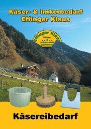 Katalog Käsereibedarf 2010 - Effinger Klaus