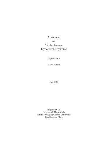 Autonome und Nichtautonome Dynamische Systeme