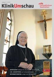 KlinikUmschau Ausgabe 2/2012 - Caritasklinik St. Theresia