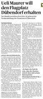 Pressespiegel Pressespiegel - Task Force Flugplatz Dübendorf - Seite 3
