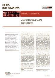 PLMJ - Artigo: Valor Patrimonial Tributário