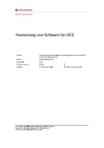 Paketierung von Software für UCS - Univention