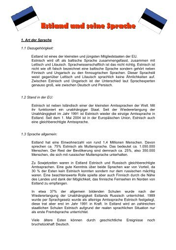 Estland und seine Sprache - Lo-net2