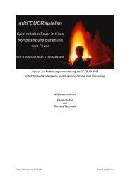 Spiel mit dem Feuer in Kitas