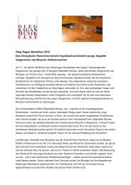 Oleg Kagan Musikfest 2012 Das Georgische Kammerorchester ...